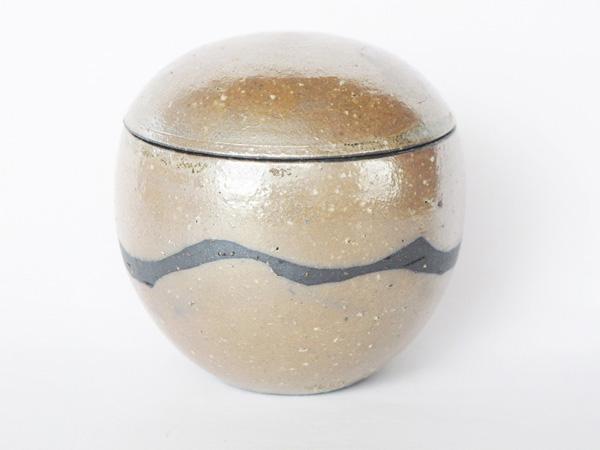ミニ骨壷 信楽焼 【ふるさと 風・球型】(サイズは2種類) 骨壷
