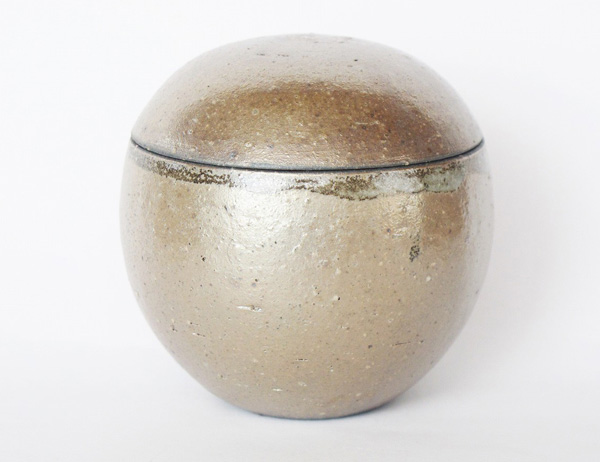 ミニ骨壷 信楽焼 【ふるさと 凪・球型】(サイズは2種類) 骨壷