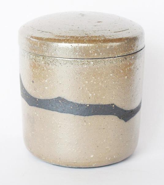 ミニ骨壷 信楽焼 【ふるさと 風・筒型】(サイズは2種類) 骨壷