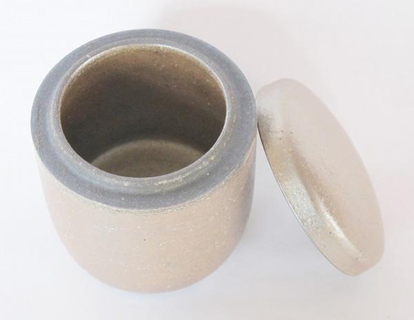 ミニ骨壷 信楽焼 【ふるさと 凪・筒型】(サイズは2種類) 骨壺