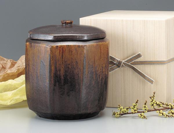 骨壷 鉄彩釉(てっさいゆう)(サイズは3種類) 骨壷