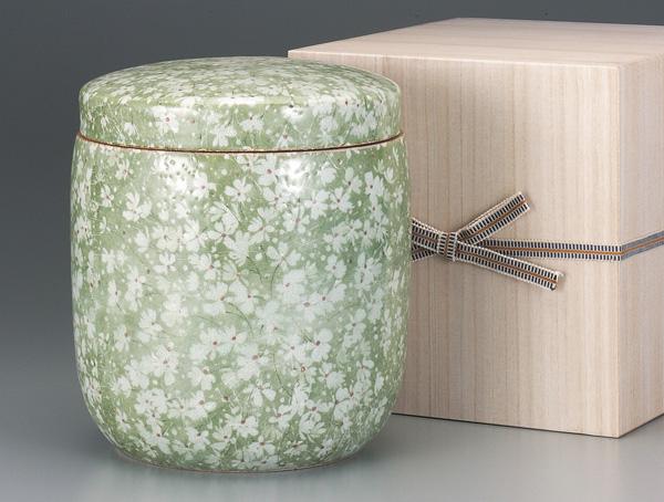 骨壷 葉月窯 氷雪若草(ひょうせつわかくさ)金塗(サイズは3種類) 骨壷