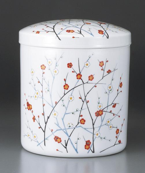 四季の花柄紅白梅