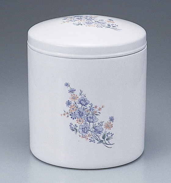骨壷 白壷 コスモス(サイズは3種類)【ウラブタ刻印可】 骨壷