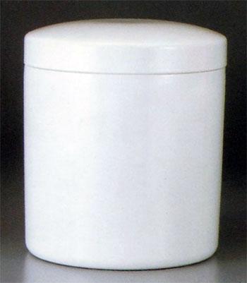 シンプル骨壷 切立 白壷(サイズは3種類) 骨壷