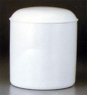 シンプル骨壷 白壷(サイズ:6寸)(素焼き)