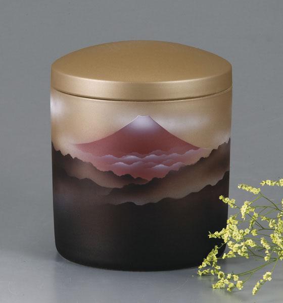 骨壷 赤富士(あかふじ) サイズは3種類【ウラブタ刻印可】 骨壷