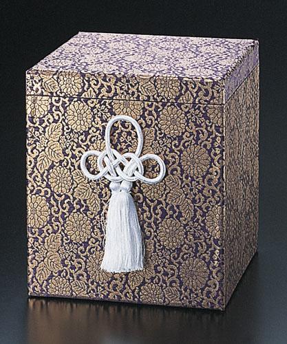 貼箱のみ ぬきなし【紫】 (サイズは骨壷5~7寸用) 骨壷