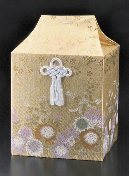 桐箱用骨カバーのみ 金彩菊(きんさいぎく) (サイズは骨壷5~7寸用) 骨壷