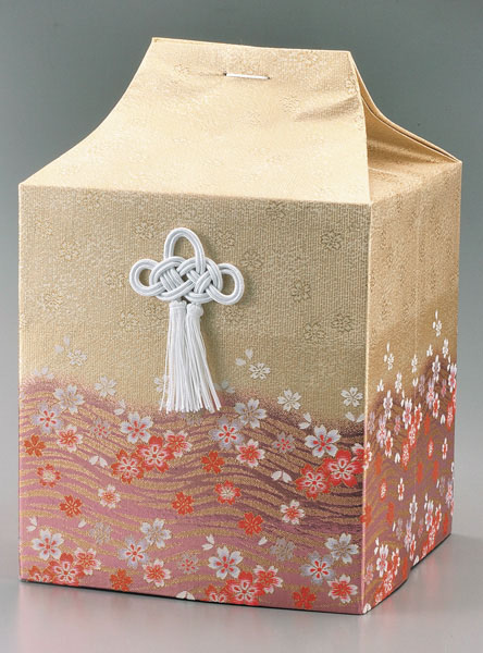桐箱用骨カバーのみ 流水に桜【ピンク】 (サイズは骨壷5~7寸用) 骨壷