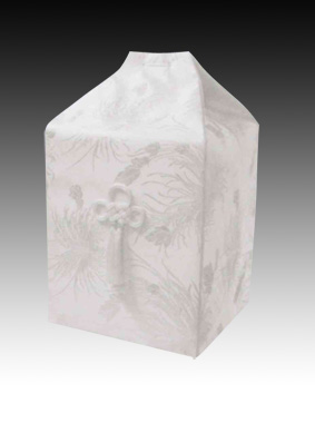 桐箱用骨カバーのみ 花水木【ホワイト】(サイズは骨壷5~7寸用) 骨壷