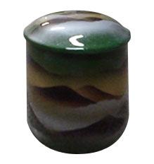 ミニ骨壷 緑彩 2.3寸