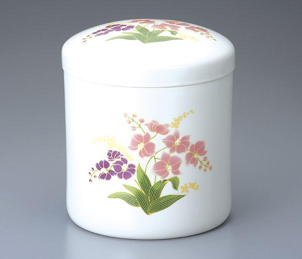 骨壷 白胡蝶蘭(サイズは3種類)【ウラブタ刻印可】 骨壷