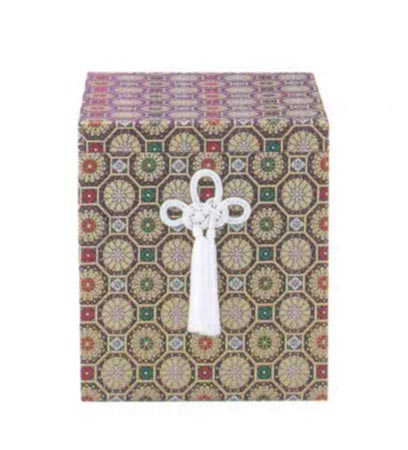 貼箱のみ 金襴亀甲柄箱 (サイズは骨壷6寸用・7寸用) 骨壷