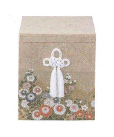 貼箱のみ 金襴小菊柄箱 (サイズは骨壷5~7寸用) 骨壷