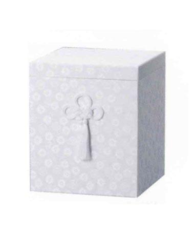 貼箱のみ 白広金箱 (サイズは骨壷5~7寸用) 骨壷
