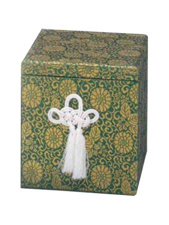 貼箱のみ 緑広金箱 (サイズは骨壷5~7寸用) 骨壷